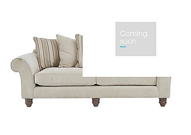 Lancaster 4 Seater Fabric Pillow Back Sofa - Only One Left! in 009 Sherlock Plain Pearl Lo Ft on Furniture Village