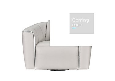 Perno Leather Swivel Chair - Only One Left! in 019-Phoenix 15g3 Light Taupe on Furniture Village