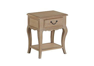 Daphne 1 Drawer Bedside Chest in White Oil Finish on Furniture Village