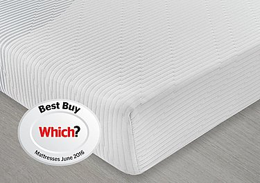 Mattress Now 3 Zone Memory Foam Roll Up Mattress in  on Furniture Village