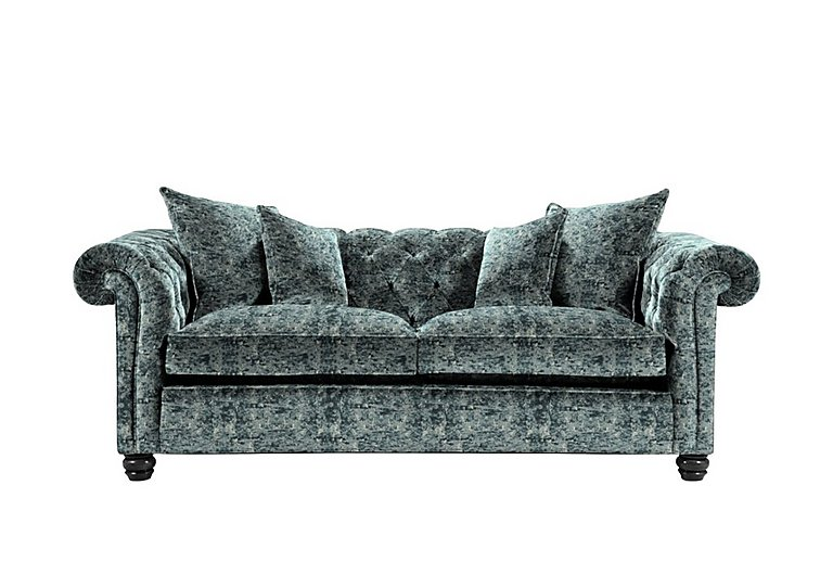 Curzon 2 Seater Fabric Sofa in Paradise Velvet Duck Egg on Furniture Village