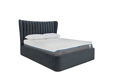 Horton Ottoman Bed Frame in Drk Grey Velvet Dark Grey on Furniture Village