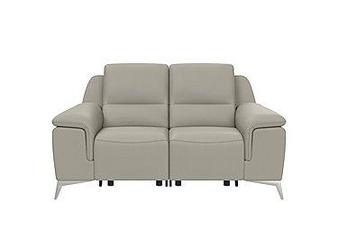 Vincitore 2 Seater Leather Power Recliner Sofa in 1517 Dali Tortora on Furniture Village