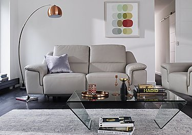 Vincitore 2.5 Seater Leather Power Recliner Sofa in  on Furniture Village