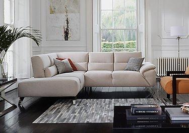 Novita Fabric Corner Sofa with Chaise End in  on Furniture Village
