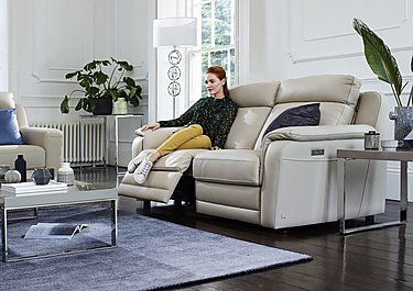 Lucano Leather Power Recliner 3 Seater Sofa with Power Headrests in  on Furniture Village