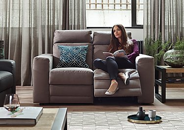 Movimento Highback Fabric Power Recliner 2 Seater Sofa with Power Headrests in  on Furniture Village