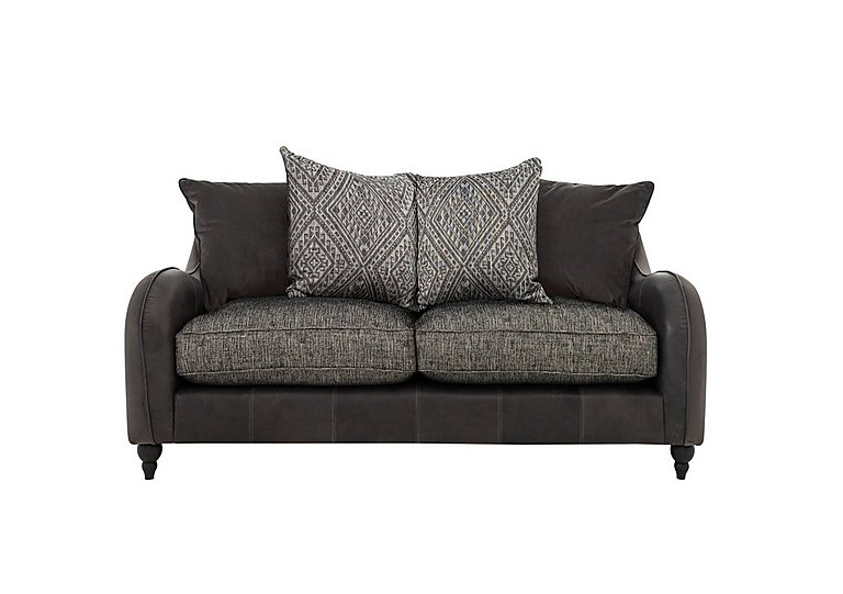 Cherokee Leather And Fabric Mix Scatter Back 2 Seater Sofa