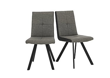 Phoenix Pair of Dining Chairs in Two Tone on Furniture Village