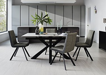 Phoenix Dining Table and 4 Dining Chairs in  on Furniture Village