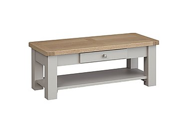Somerset Coffee Table with Drawer in No-P Pg     Pebble Grey on Furniture Village