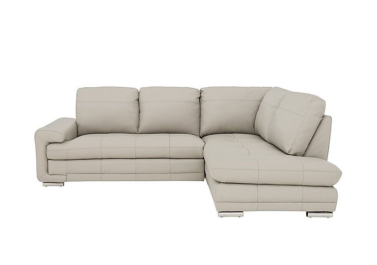 Gamma Leather Chaise Sofa - Furniture Village