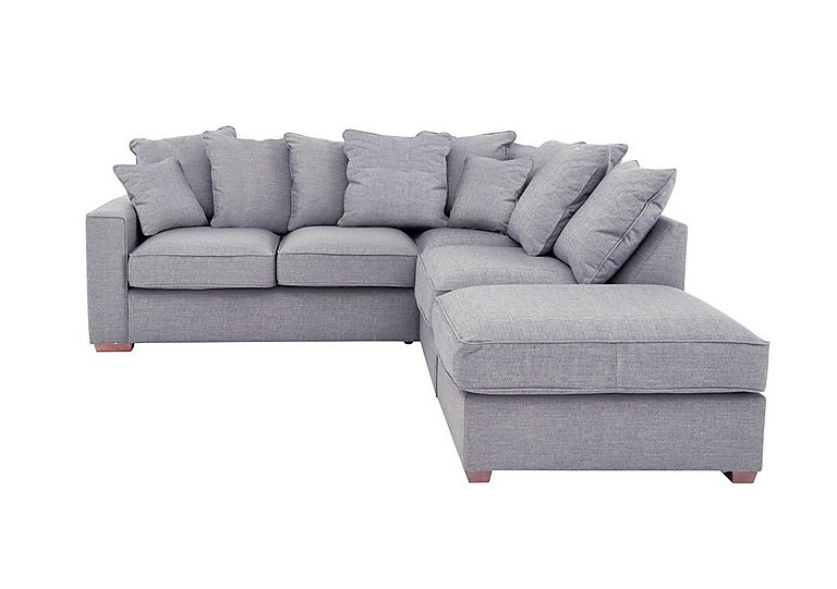 Dune Fabric Corner Pillow Back Sofa With Footstool Only One Left Furniture Village