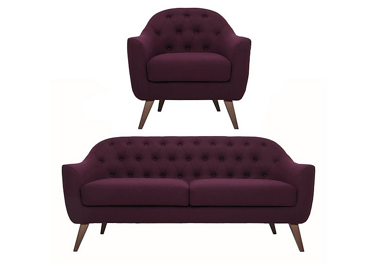 Lexi 3 Seater Fabric Sofa And Chair Multi Buy Saver Set