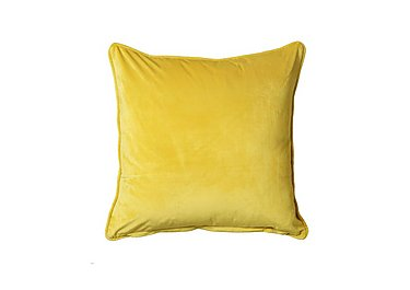 Corelli Velour Cushion in Yellow on Furniture Village