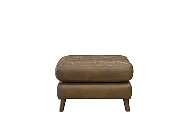 Loft Living Leather Footstool in Case Smoke Wo on Furniture Village