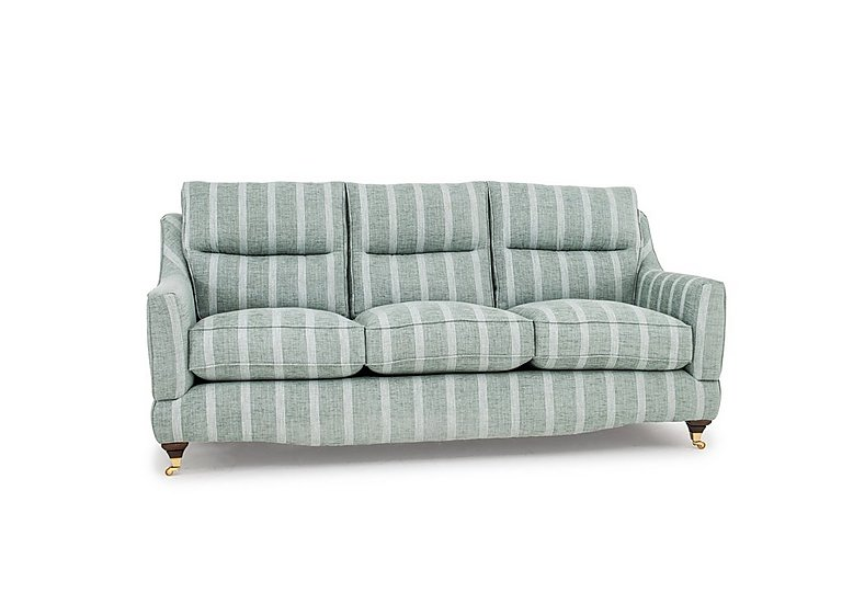 Fairfield 3 Seater Classic Back Fabric Sofa With 3 Seat And Back Cushions