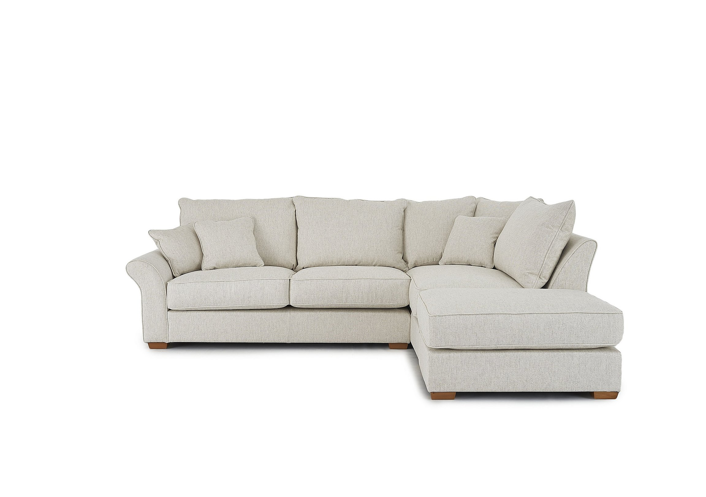 Carnaby Corner Chaise Fabric Sofa with Footstool - Furniture Village
