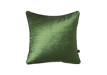Velvet Sheen Duo Cushion in Green / Black on Furniture Village
