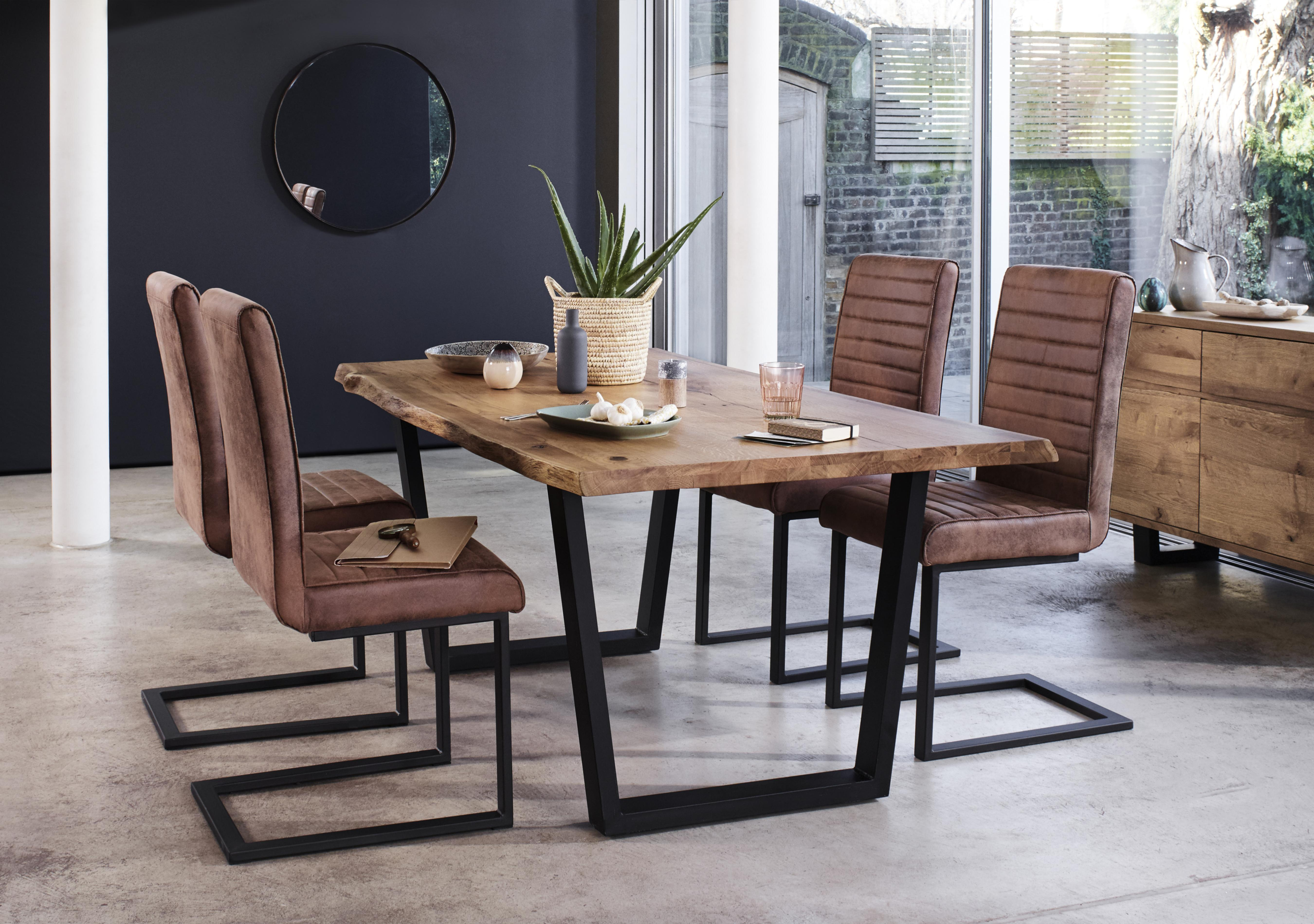 Corndell Jagger Dining Table with Metal Legs and 4 Dining Chairs & Dining table and chairs sets - Furniture Village