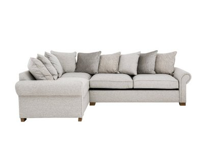 Monterey Pillow Back Fabric Corner Sofa Bed - Furniture Village