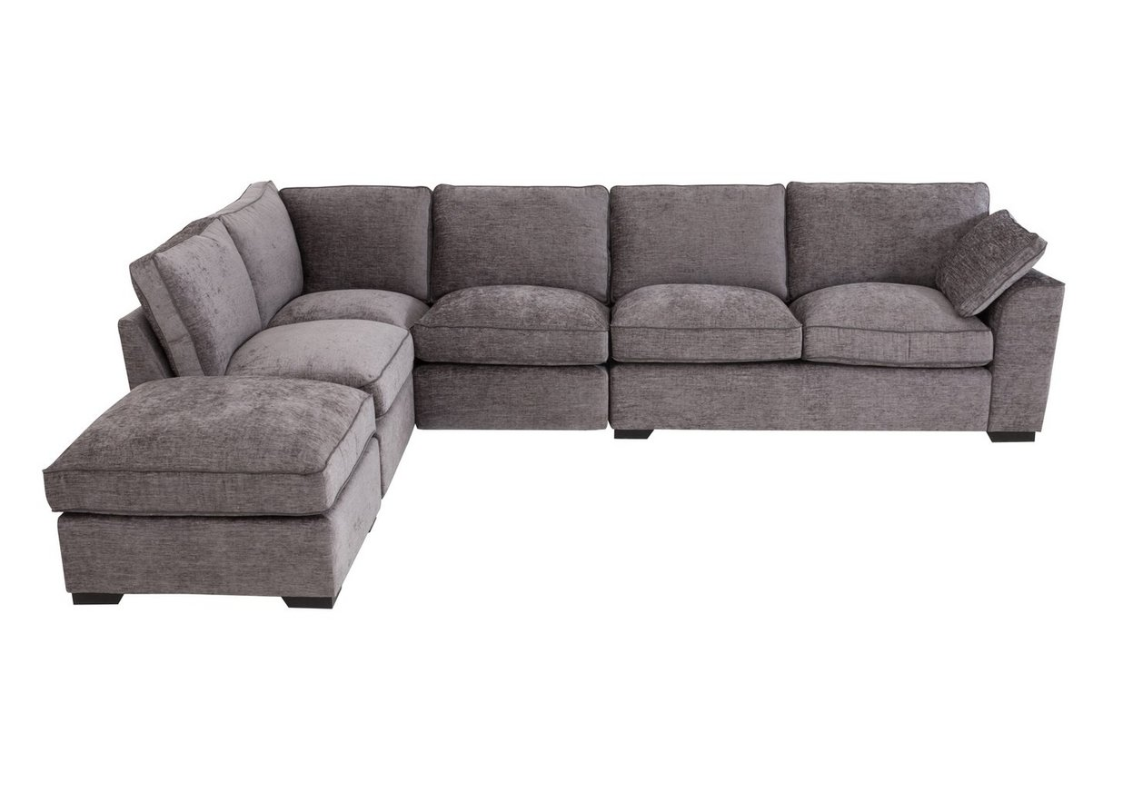 Alexandra Medium Corner Sofa With Footstool - Furniture Village