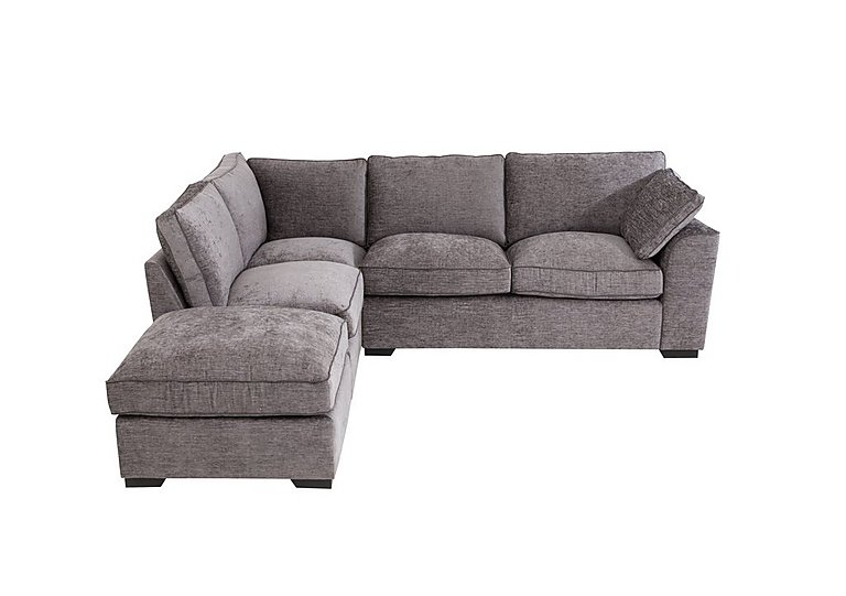 Attractive Alexandra Small Corner Sofa With Footstool
