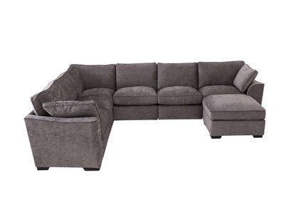Alexandra Large Corner Sofa with Footstool - Furniture Village