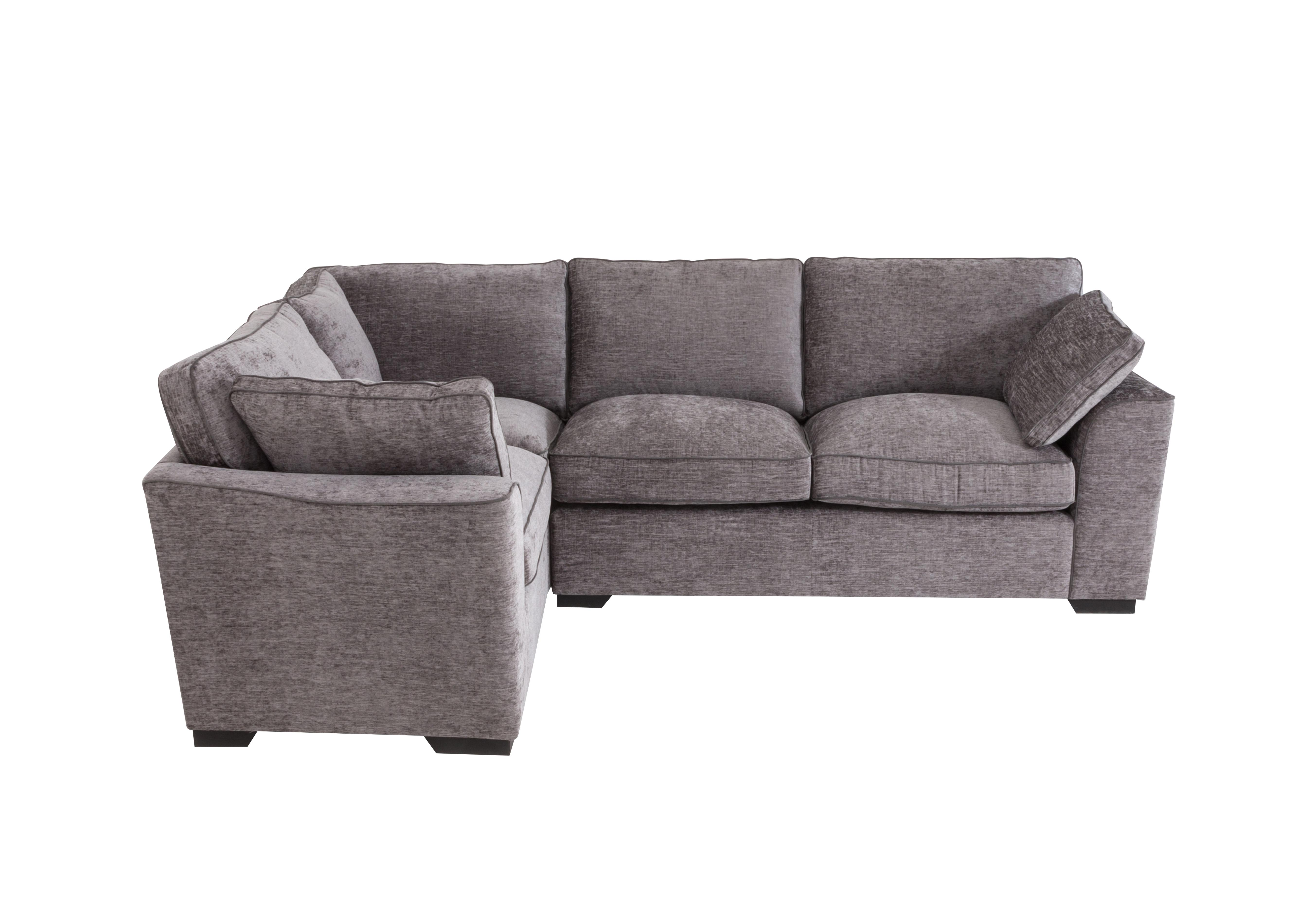 Alexandra Small Corner Sofa in Manon Silver(Graphite Pipe) Dk on Furniture Village  sc 1 st  Furniture Village & Alexandra Small Corner Sofa - Furniture Village