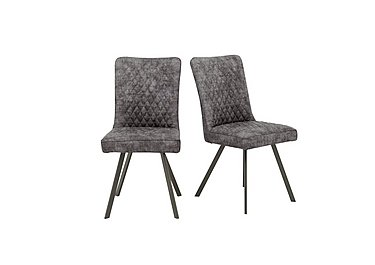 Earth Pair of Dining Chairs in Graphite on Furniture Village