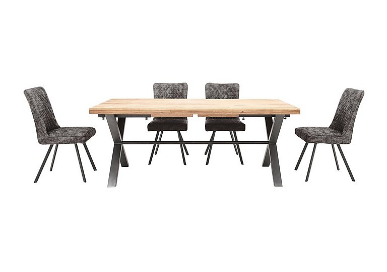 Earth Large Dining Table And 4 Chairs Furniture Village