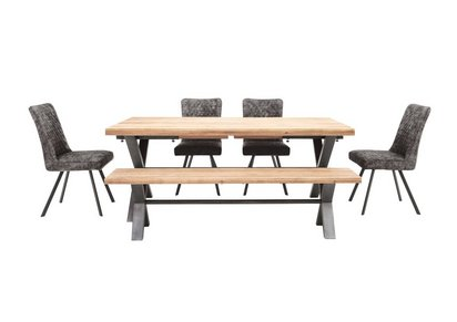 Stupendous Earth Large Dining Table 4 Dining Chairs And Large Dining Bench Download Free Architecture Designs Parabritishbridgeorg