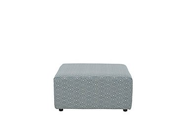 Home Large Fabric Box Footstool in Romayo Teal on Furniture Village