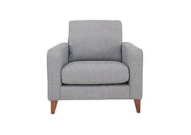 Alex Fabric Armchair in Dash Silver Col 3 Dark on Furniture Village