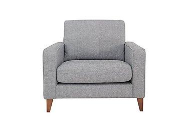 Alex Fabric Snuggler Chair in Dash Silver Col 3 Dark on Furniture Village