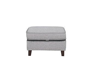 Alex Fabric Footstool in Dash Silver Col 3 Dark on Furniture Village