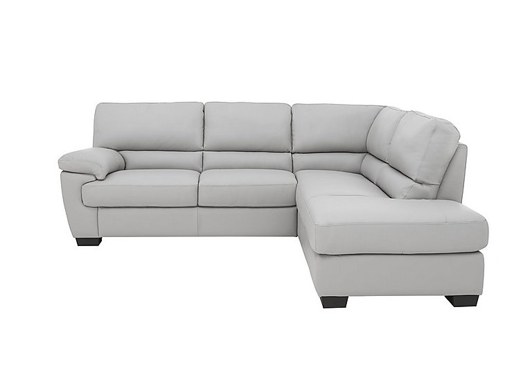 Grey Leather Corner Sofa Chaise