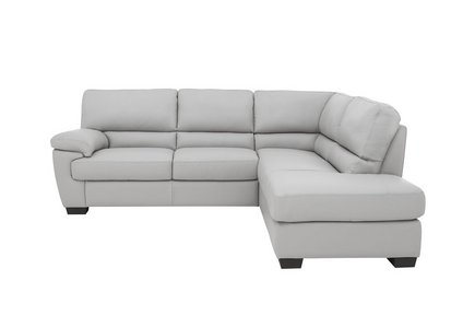 the best attitude eec54 b6e02 Lazio Leather Corner Sofa