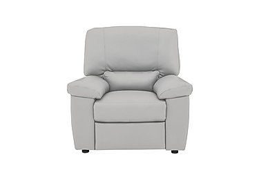Lazio Leather Recliner Armchair in Denver 10bz Medium Grey on Furniture Village