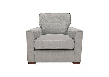 Seasons Fabric Armchair in Barley Silver - Dark Feet on Furniture Village
