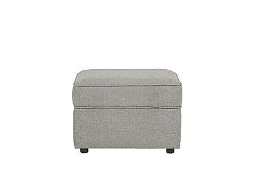 Seasons Fabric Storage Footstool in Barley Silver - Dark Feet on Furniture Village
