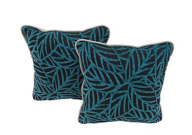 Seasons Pair of Fabric Scatter Cushions in Ronda Teal on Furniture Village