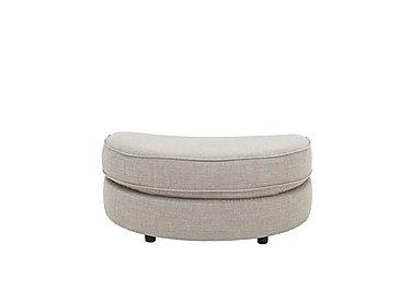 Seasons Fabric Half Moon Footstool in Barley Silver - Dark Feet on Furniture Village