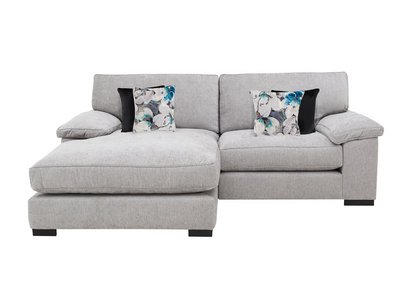 Slouch Large Classic Back Fabric Chaise End Sofa - Furniture ...