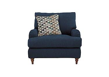 Freya Fabric Armchair in Darwin Aegean - Talenti Marine on Furniture Village
