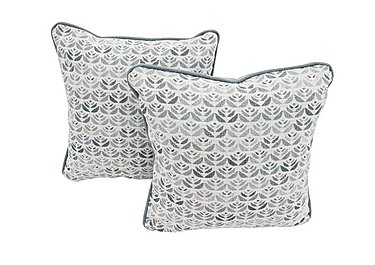 Nelson Pair of Fabric Scatter Cushions in Carnaby Pattern Slate on Furniture Village