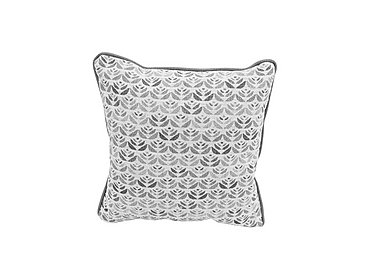 Nelson Fabric Scatter Cushion in Carnaby Pattern Slate on Furniture Village