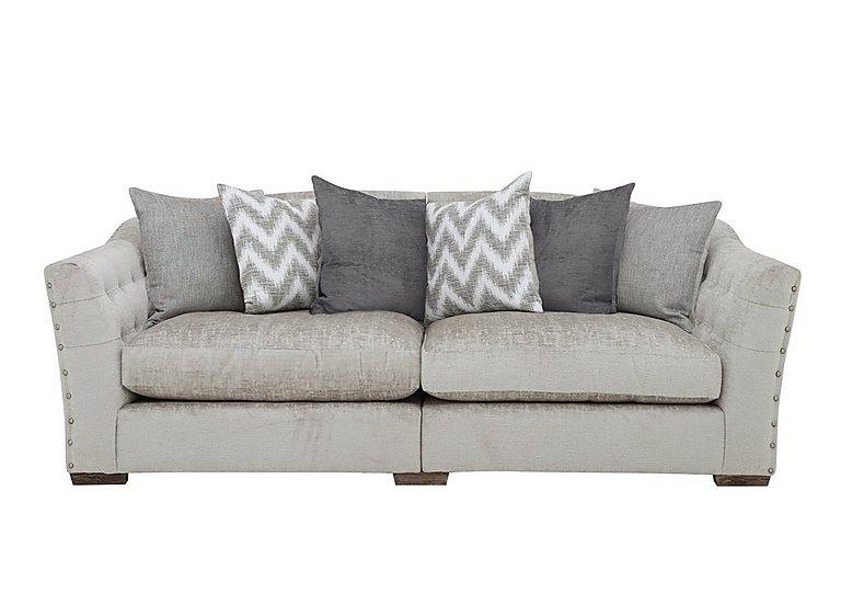 Devine 4 Seater Pillow Back Fabric Split Back Sofa