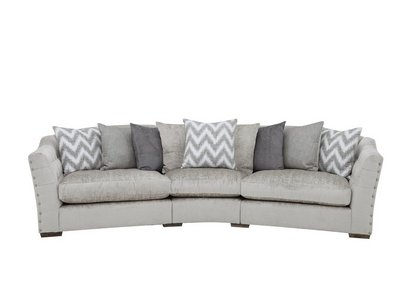 Devine Pillow Back Fabric Curved Sofa Furniture Village