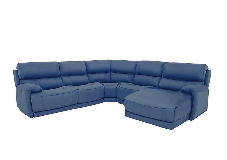 Motive Leather Corner Chaise Power Recliner Sofa